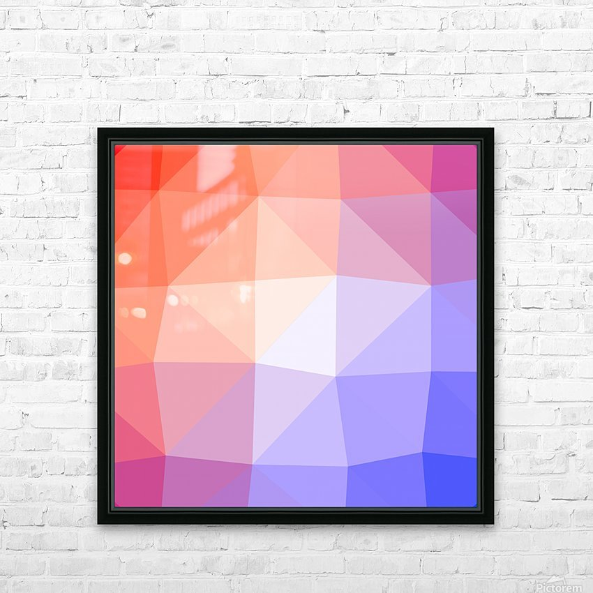 Abstract art patterns low poly polygon 3D backgrounds, textures, and vectors (2) HD Sublimation Metal print with Decorating Float Frame (BOX)
