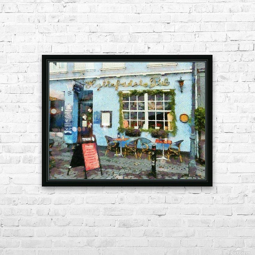 Blue Cafe Copenhagen HD Sublimation Metal print with Decorating Float Frame (BOX)