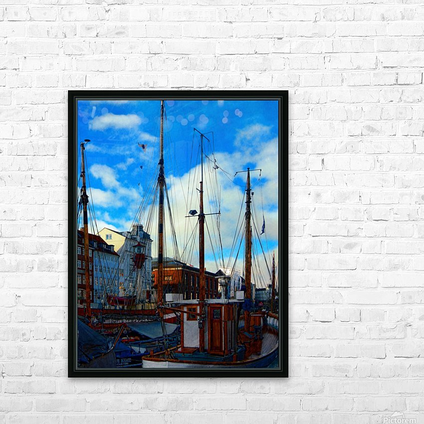 A Study in Masts HD Sublimation Metal print with Decorating Float Frame (BOX)
