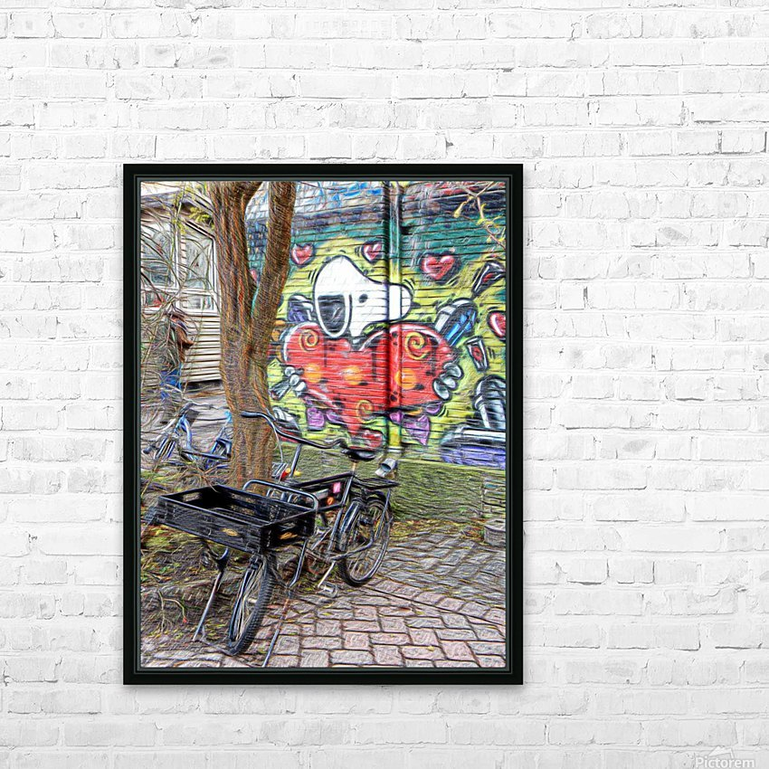 Bicycles at Rest HD Sublimation Metal print with Decorating Float Frame (BOX)