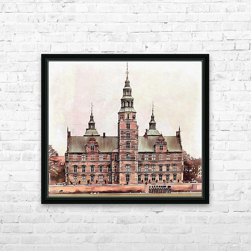 Rosenborg Castle Copenhagen HD Sublimation Metal print with Decorating Float Frame (BOX)