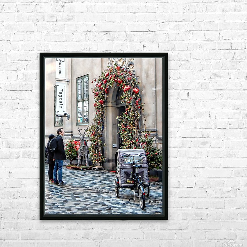 Christmas at a Museum Copenhagen HD Sublimation Metal print with Decorating Float Frame (BOX)