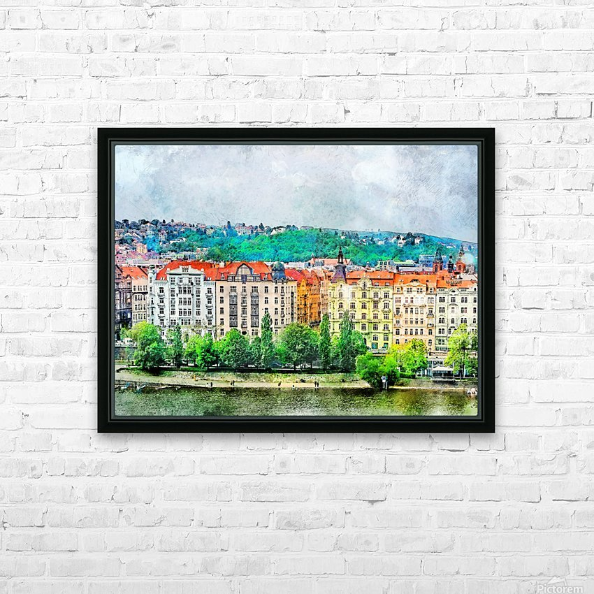 Praha city art HD Sublimation Metal print with Decorating Float Frame (BOX)