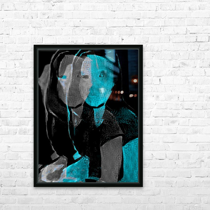 People Drawing (24) HD Sublimation Metal print with Decorating Float Frame (BOX)