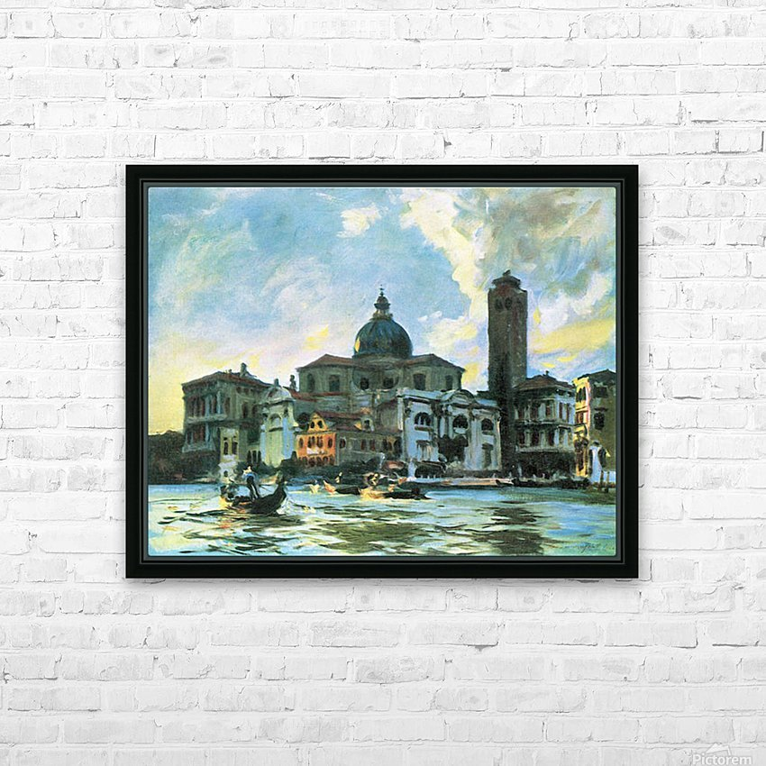 Palazzo Labia, Venice by John Singer Sargent HD Sublimation Metal print with Decorating Float Frame (BOX)