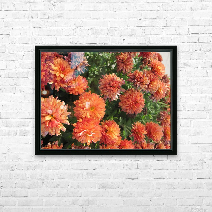Flowers (53) HD Sublimation Metal print with Decorating Float Frame (BOX)