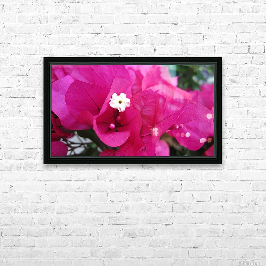 Flowers (95) HD Sublimation Metal print with Decorating Float Frame (BOX)