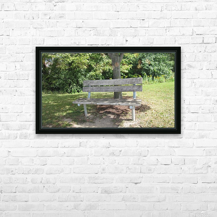 Bench (10) HD Sublimation Metal print with Decorating Float Frame (BOX)