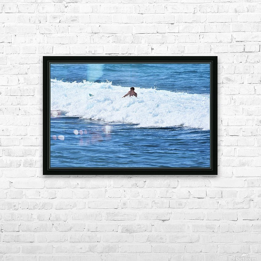 Catch a Wave HD Sublimation Metal print with Decorating Float Frame (BOX)