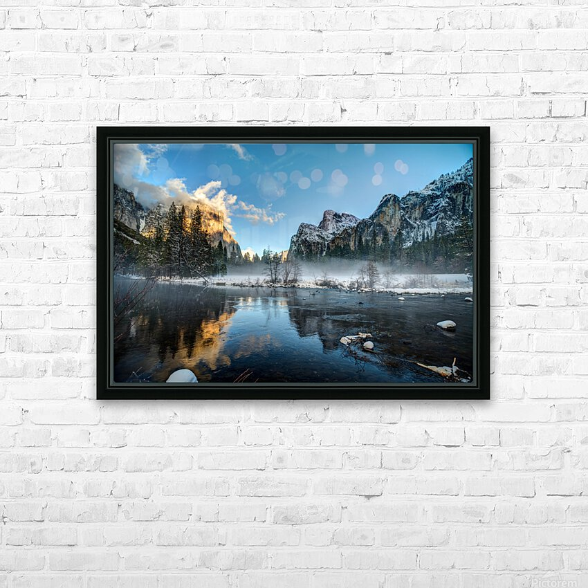 Yosemite HD Sublimation Metal print with Decorating Float Frame (BOX)