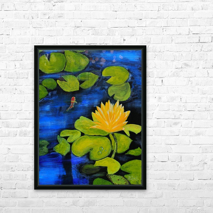 lily pond  HD Sublimation Metal print with Decorating Float Frame (BOX)