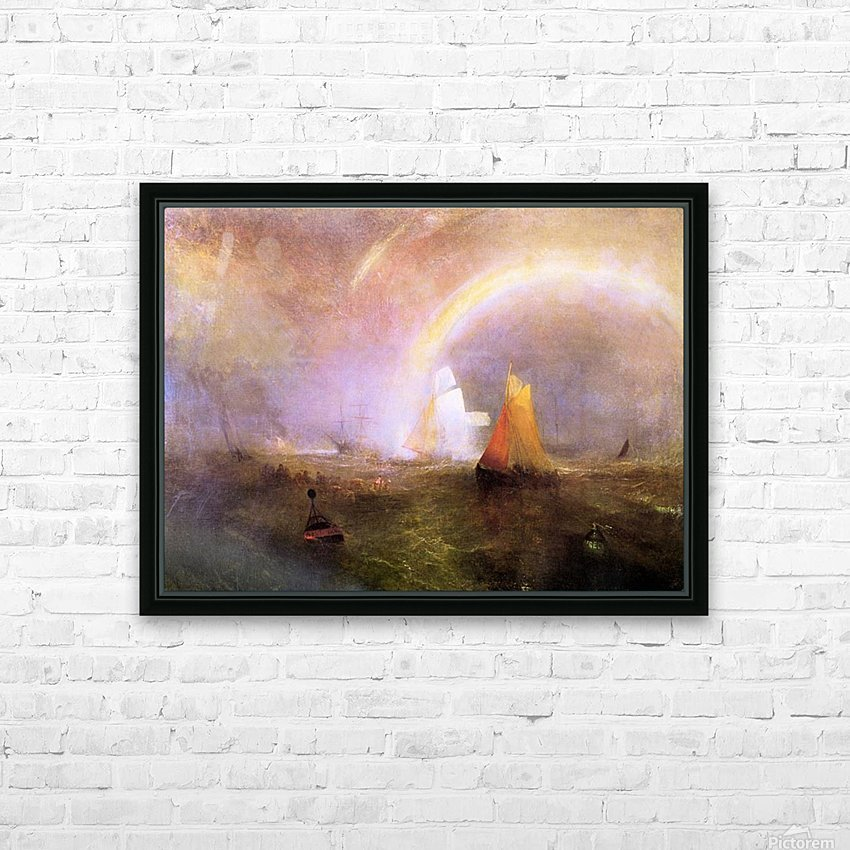 Wrecked bouys by Joseph Mallord Turner HD Sublimation Metal print with Decorating Float Frame (BOX)