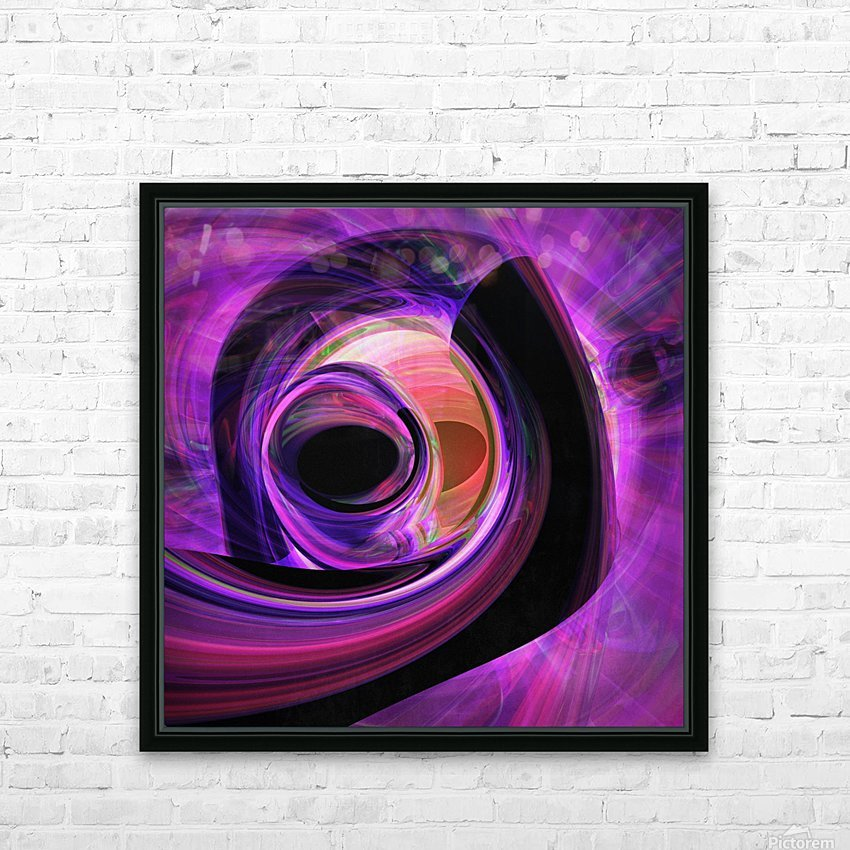 Abstract rendered artwork 3 HD Sublimation Metal print with Decorating Float Frame (BOX)