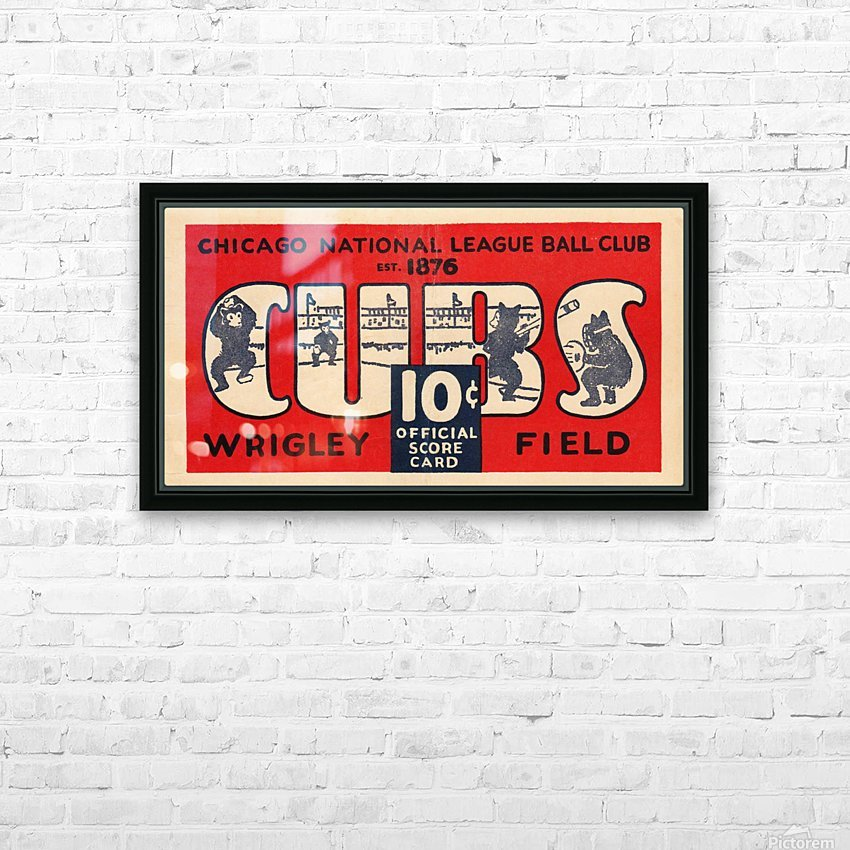 1929 Chicago Cubs score card HD Sublimation Metal print with Decorating Float Frame (BOX)
