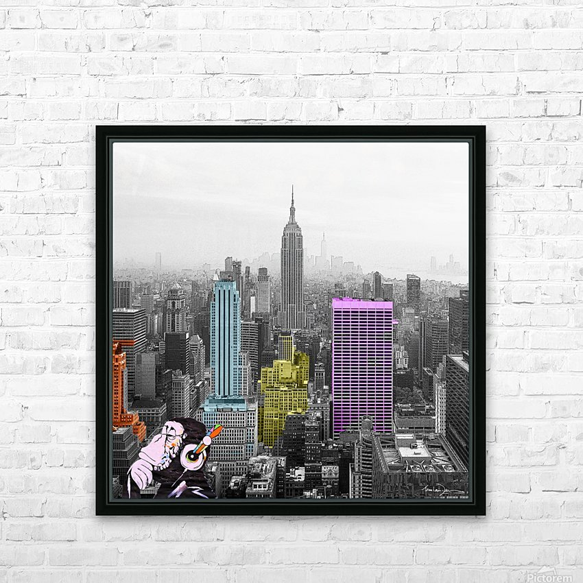 New York - Empire State Building HD Sublimation Metal print with Decorating Float Frame (BOX)