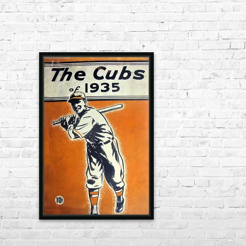 1935 Chicago Cubs Program Cover HD Sublimation Metal print with Decorating Float Frame (BOX)