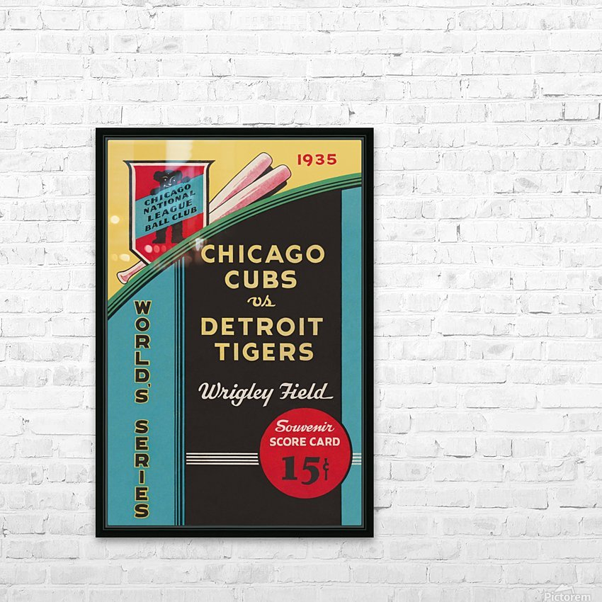 1935 Chicago Cubs World Series Program Cover HD Sublimation Metal print with Decorating Float Frame (BOX)