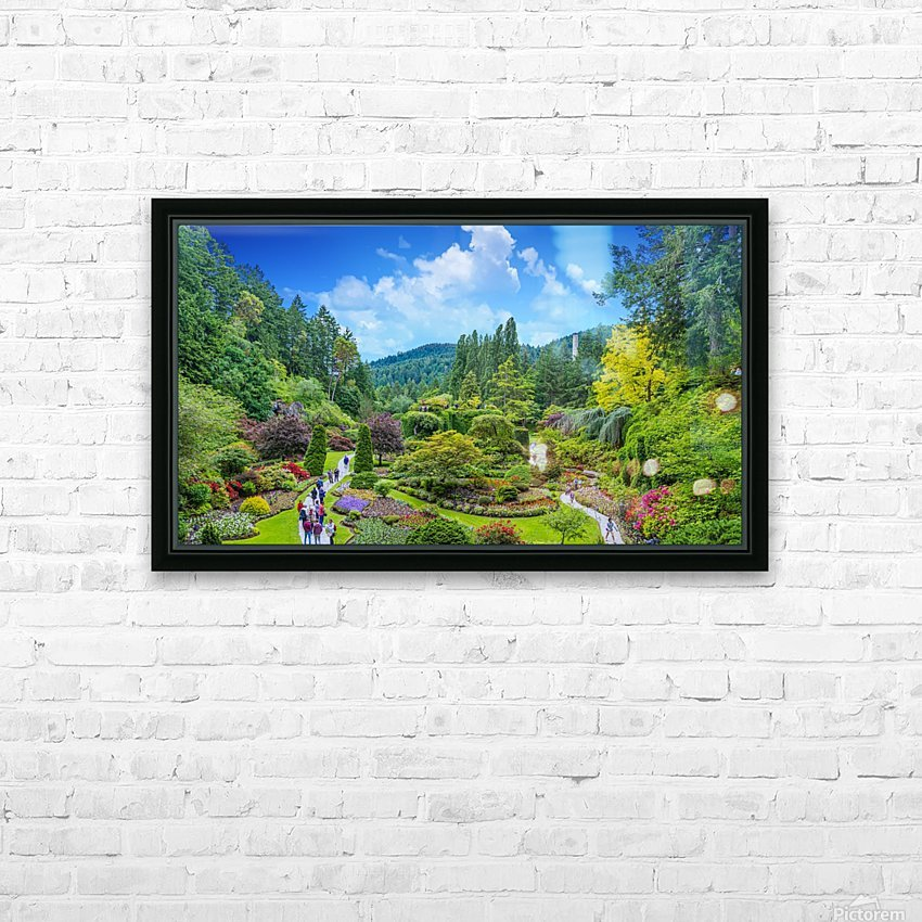 Butchart Gardens HD Sublimation Metal print with Decorating Float Frame (BOX)