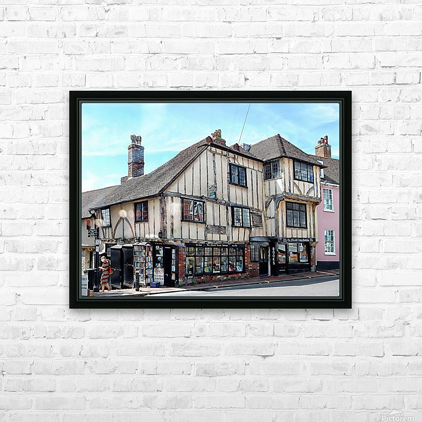 Ye Olde Bookshop Lewes front view HD Sublimation Metal print with Decorating Float Frame (BOX)
