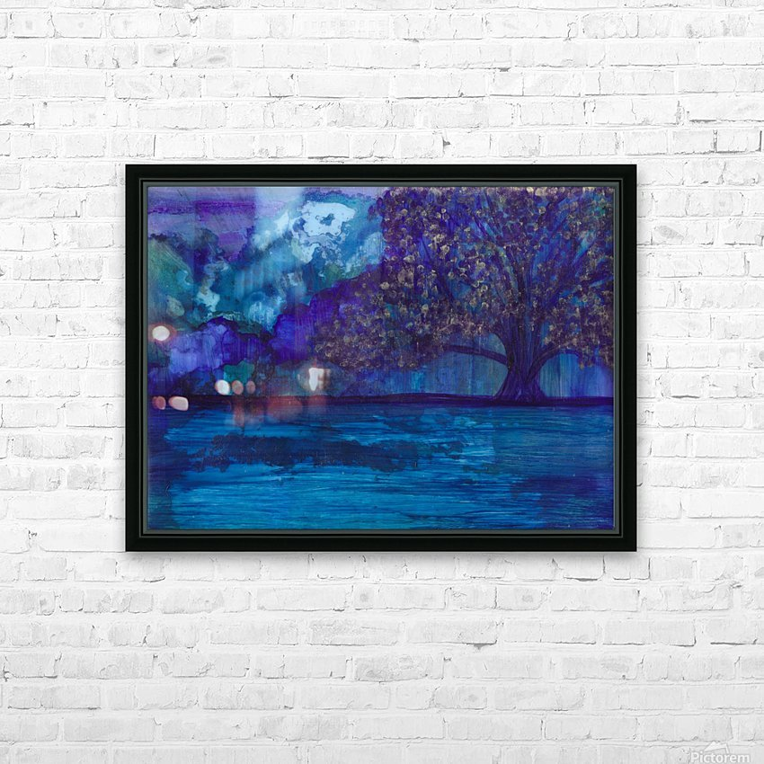 Lost in Purple HD Sublimation Metal print with Decorating Float Frame (BOX)
