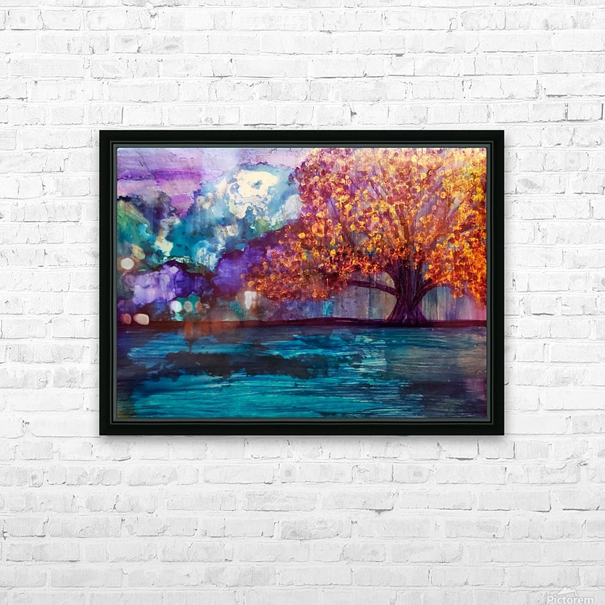 Lost in Purple v2 HD Sublimation Metal print with Decorating Float Frame (BOX)
