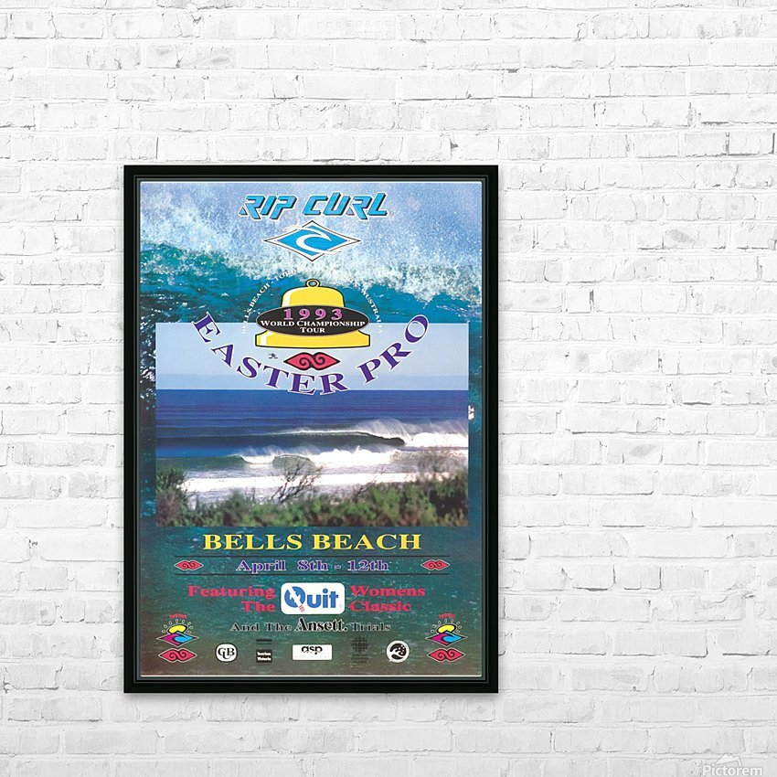 1993 RIP CURL BELLS BEACH EASTER Surfing Championship Competition Print - Surfing Poster HD Sublimation Metal print with Decorating Float Frame (BOX)