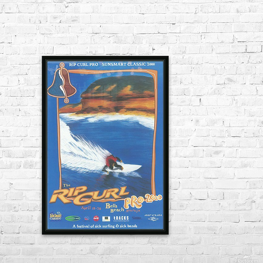 2000 RIP CURL PRO BELLS BEACH EASTER Surfing Championship Competition Print - Surfing Poster HD Sublimation Metal print with Decorating Float Frame (BOX)