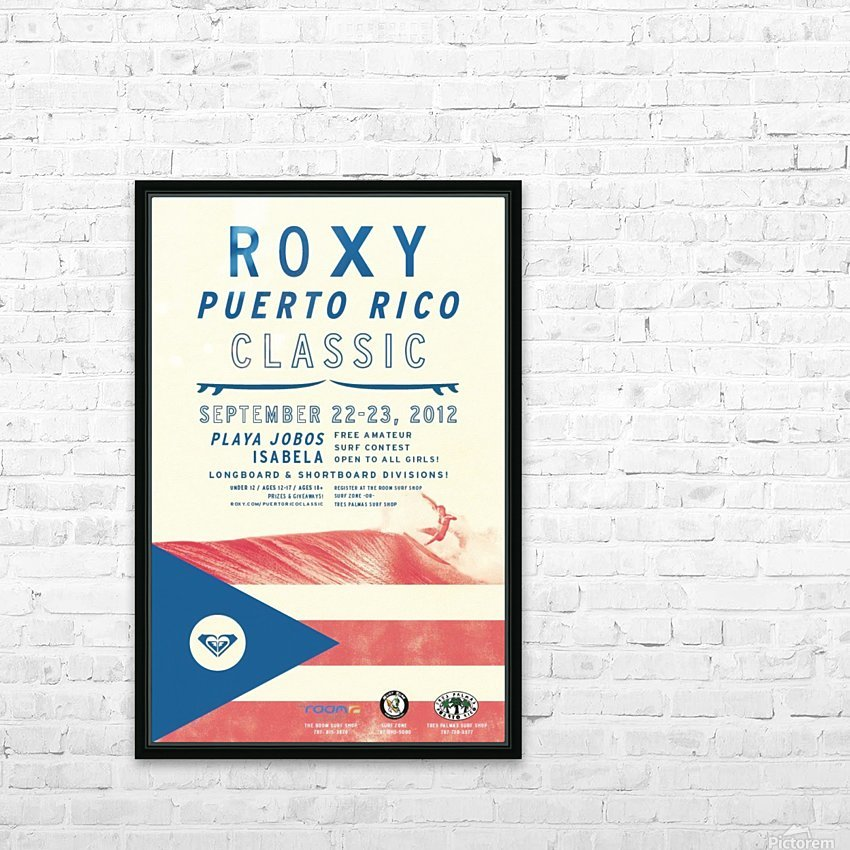 2012 ROXY PUERTO RICO CLASSIC Surfing Competition Print HD Sublimation Metal print with Decorating Float Frame (BOX)
