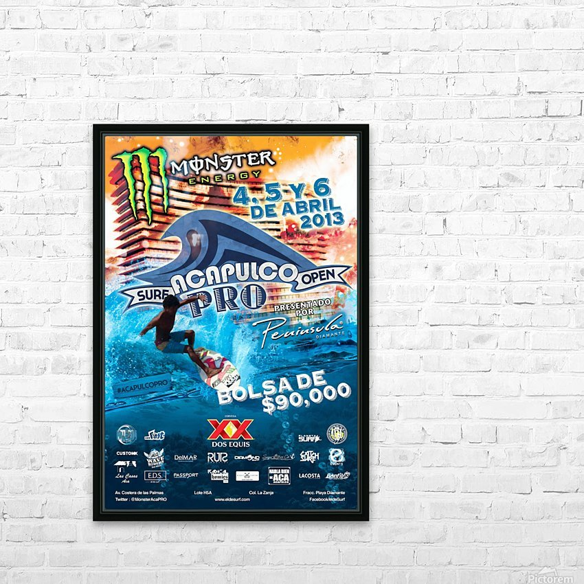 2013 ACAPULCO PRO Surf Competition Print HD Sublimation Metal print with Decorating Float Frame (BOX)