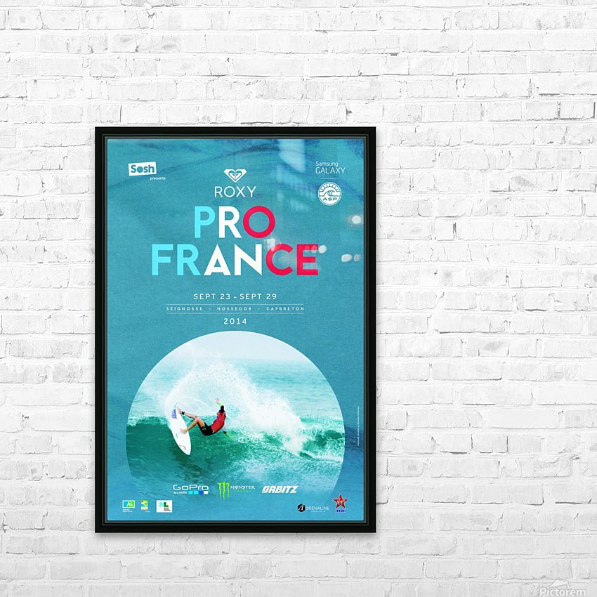 2014 ROXY PRO FRANCE Surfing Competition Poster HD Sublimation Metal print with Decorating Float Frame (BOX)