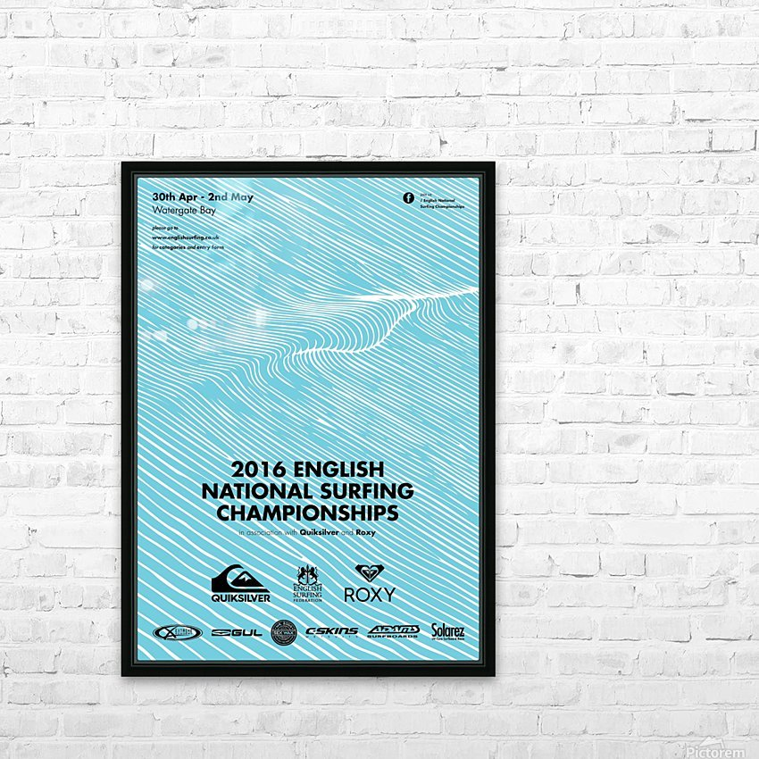 2016 ENGLISH NATIONAL SURFING Tournament Poster HD Sublimation Metal print with Decorating Float Frame (BOX)