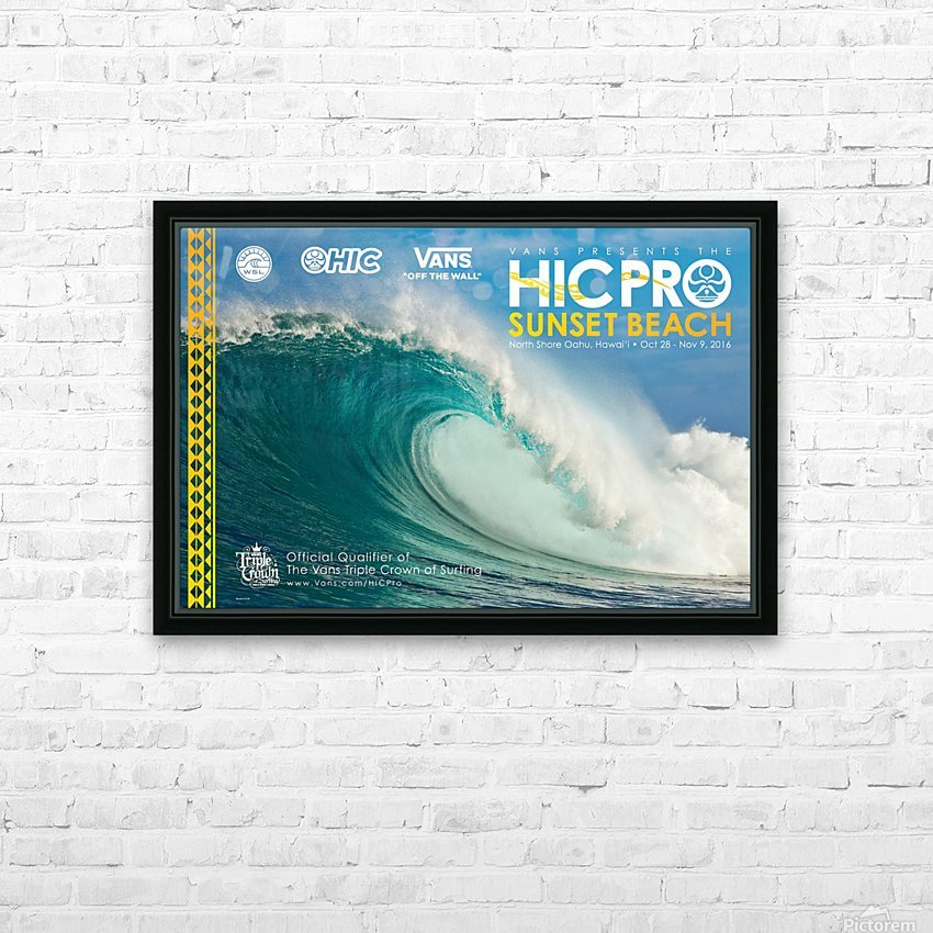 2016 VANS HIC PRO SUNSET BEACH Competition Print HD Sublimation Metal print with Decorating Float Frame (BOX)
