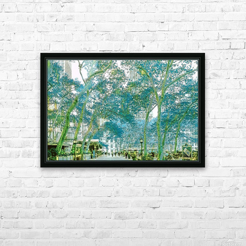 Bryant Park New York HD Sublimation Metal print with Decorating Float Frame (BOX)