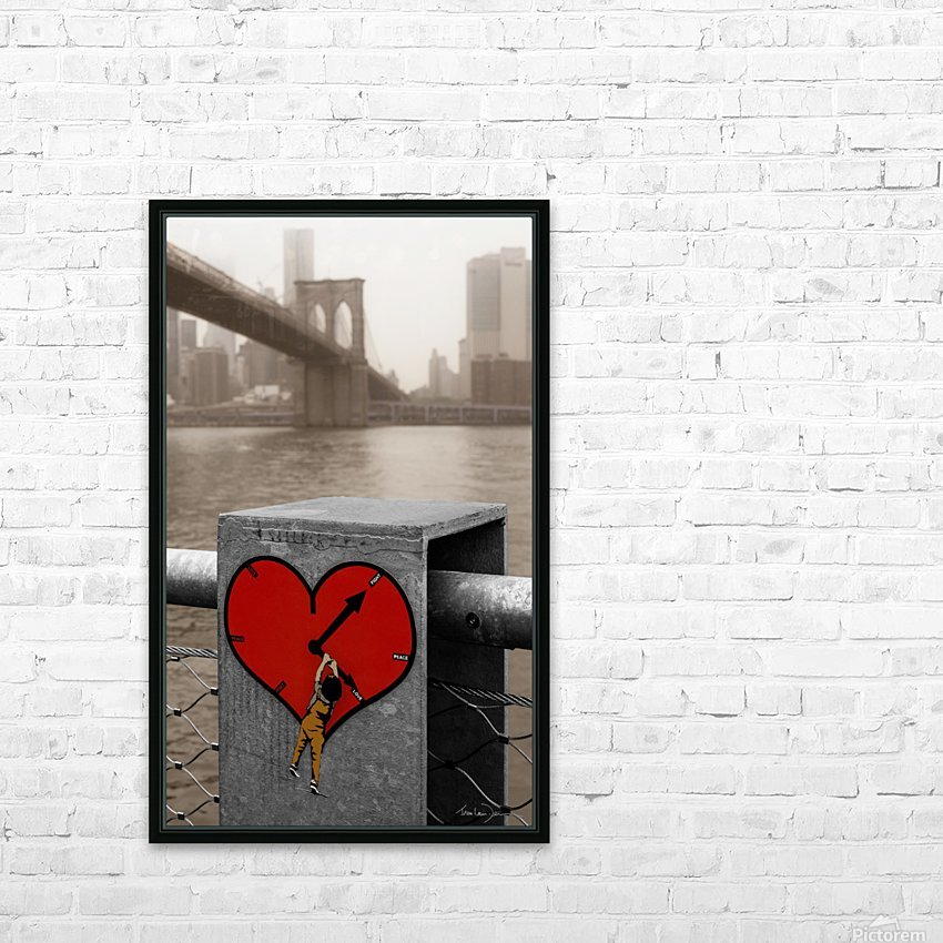 Fight - Peace - Love HD Sublimation Metal print with Decorating Float Frame (BOX)