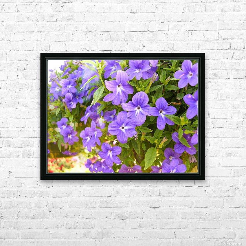 Purple Flowers Photograph HD Sublimation Metal print with Decorating Float Frame (BOX)
