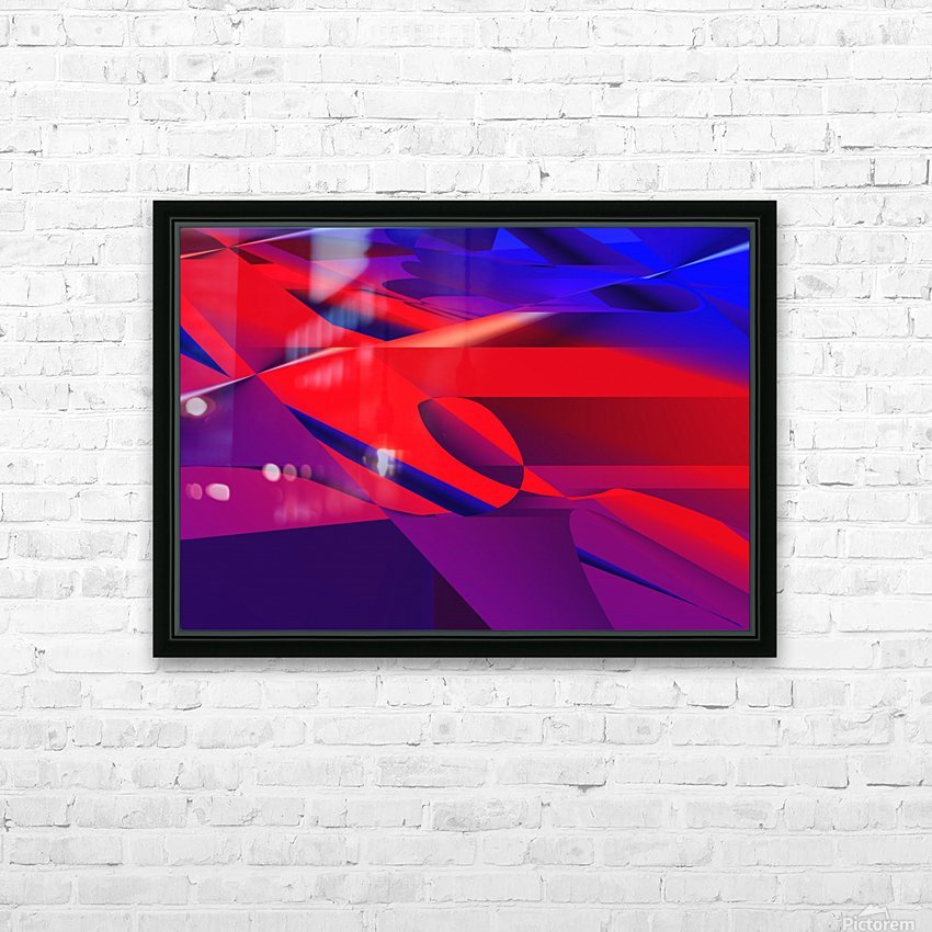 red and blue 0513a219 HD Sublimation Metal print with Decorating Float Frame (BOX)