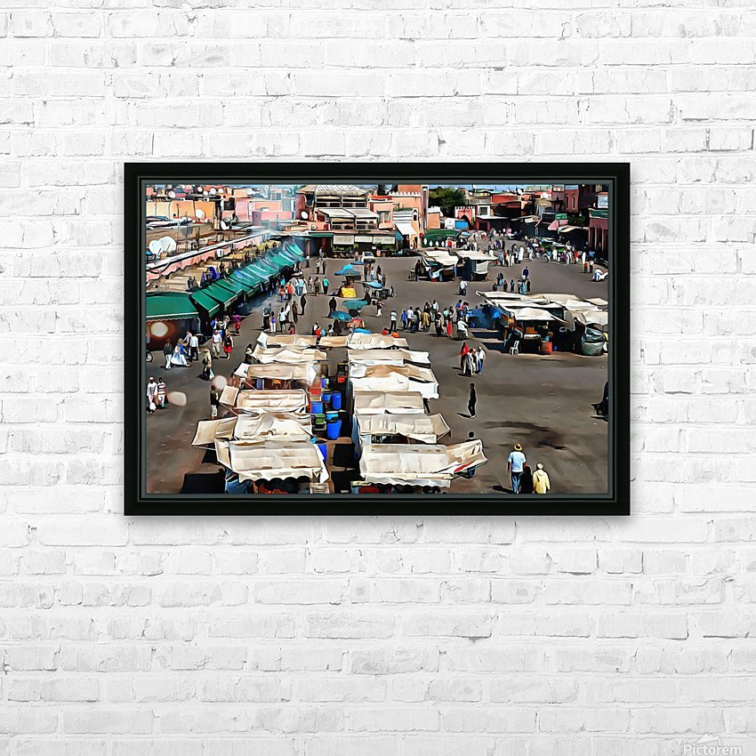 View Over Jemaa el Fnaa 1 HD Sublimation Metal print with Decorating Float Frame (BOX)
