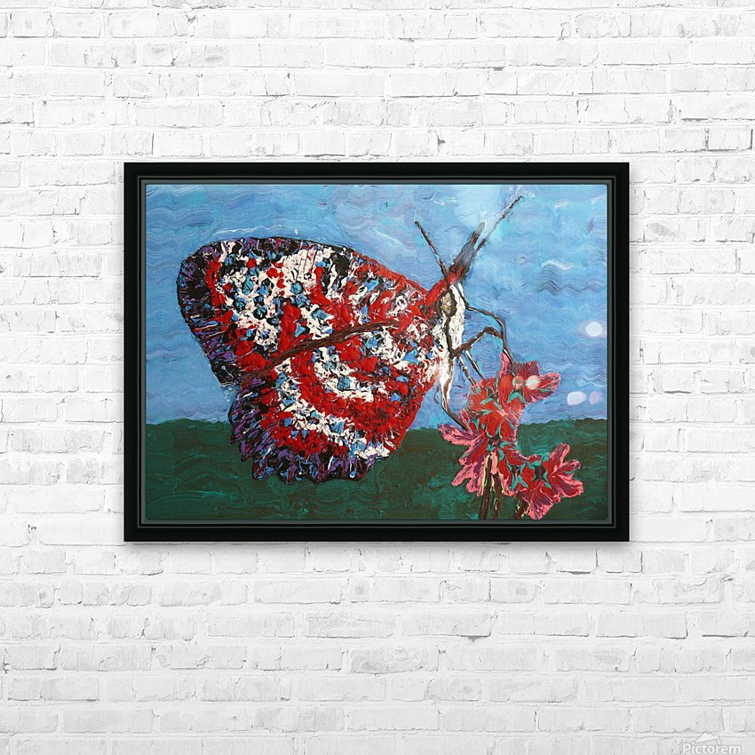 Butterfly eyes  HD Sublimation Metal print with Decorating Float Frame (BOX)