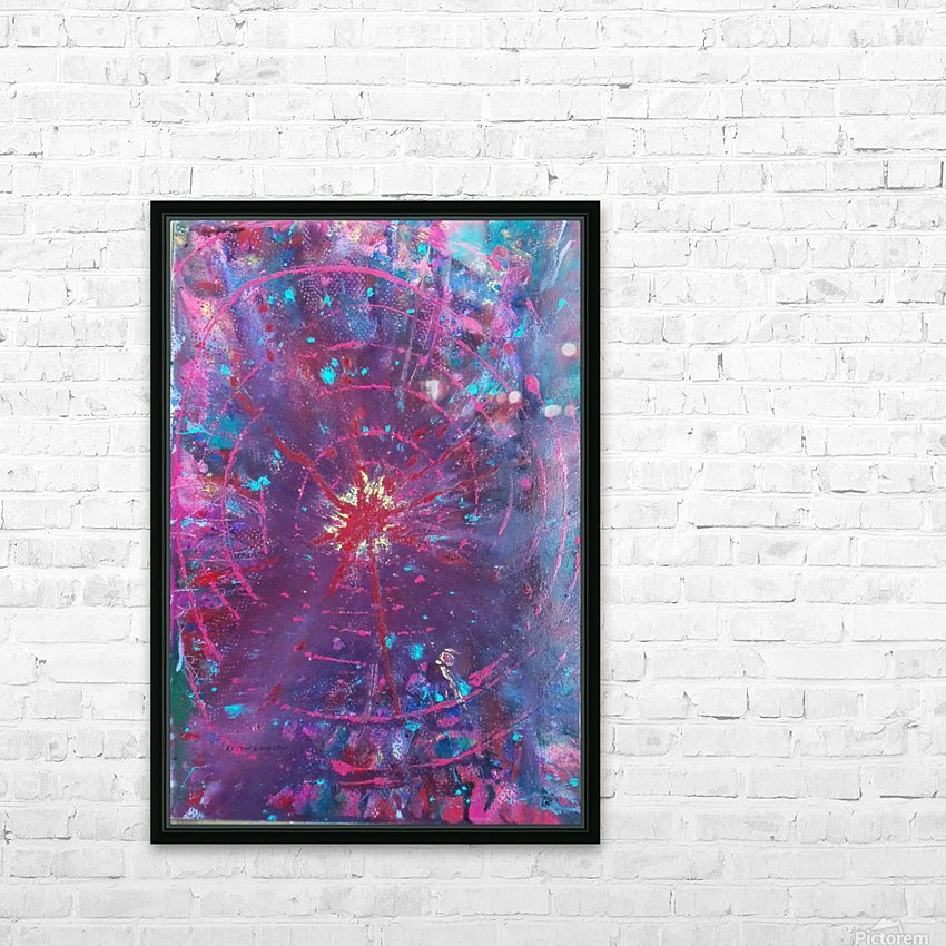 Exploding Sun1  HD Sublimation Metal print with Decorating Float Frame (BOX)