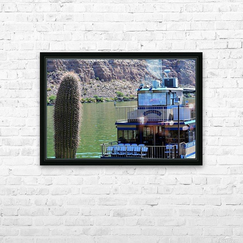 Desert Belle HD Sublimation Metal print with Decorating Float Frame (BOX)