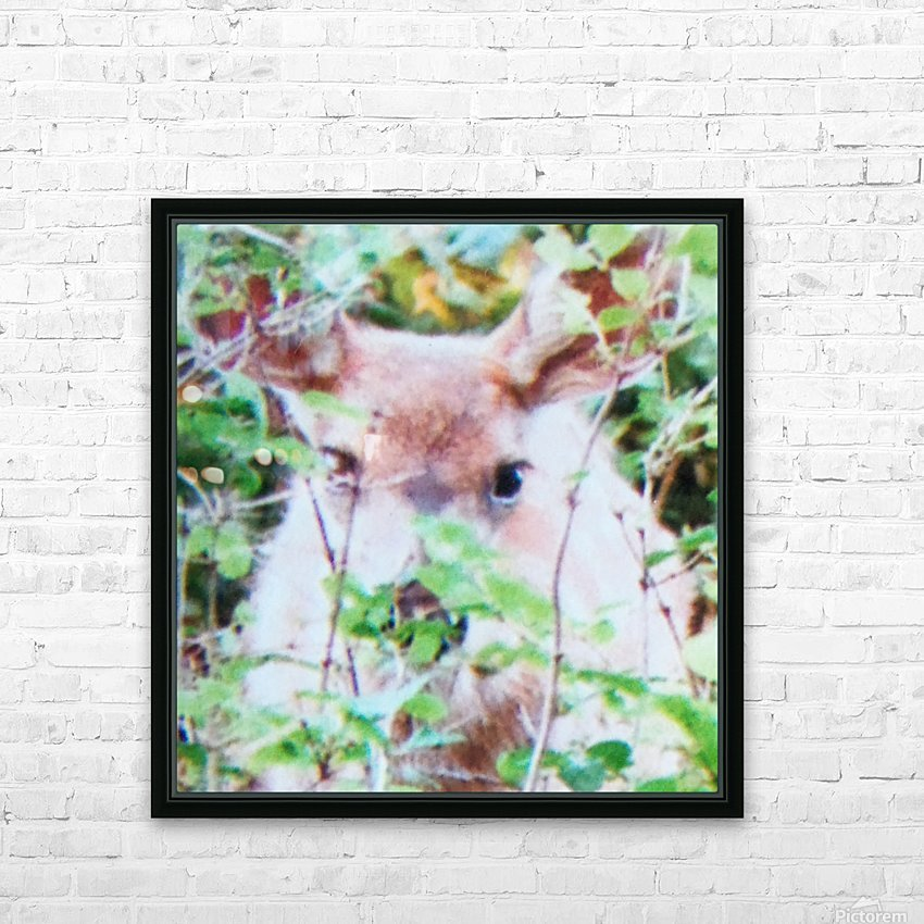 Deer HD Sublimation Metal print with Decorating Float Frame (BOX)