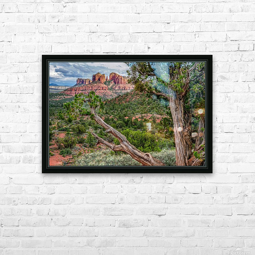 Cathedral Rock HD Sublimation Metal print with Decorating Float Frame (BOX)
