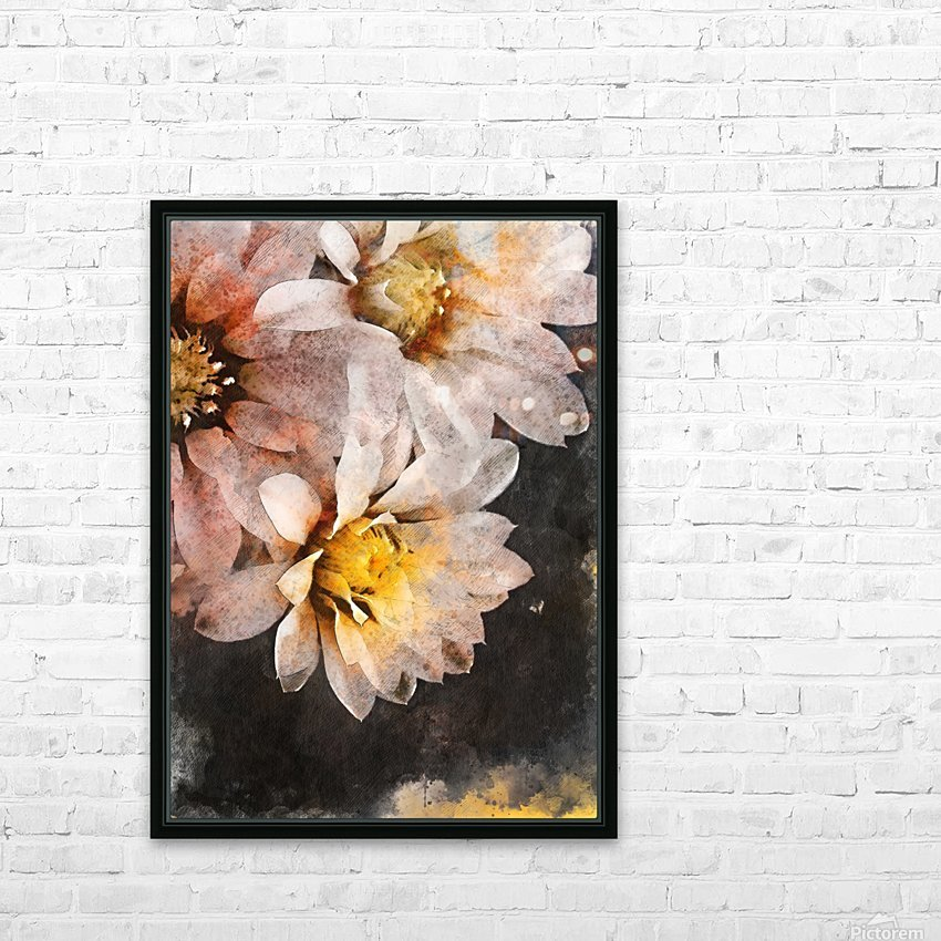 Flowers art HD Sublimation Metal print with Decorating Float Frame (BOX)