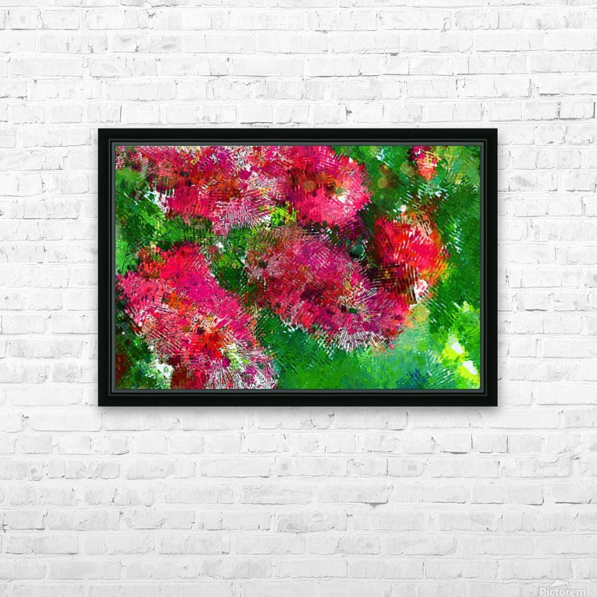 Bottle Brush Abstract 2 HD Sublimation Metal print with Decorating Float Frame (BOX)