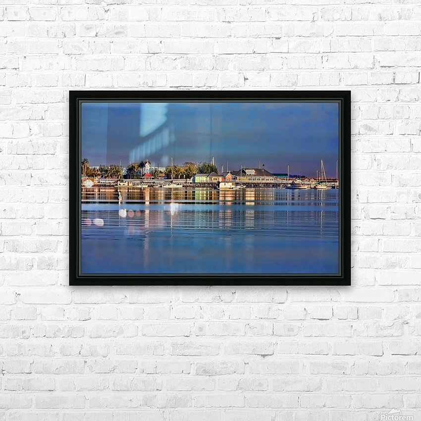 Bridge Street Waterfront HD Sublimation Metal print with Decorating Float Frame (BOX)