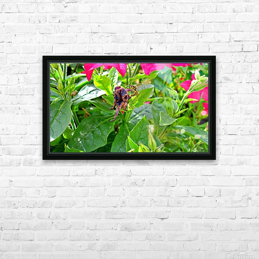 Bee (3) HD Sublimation Metal print with Decorating Float Frame (BOX)