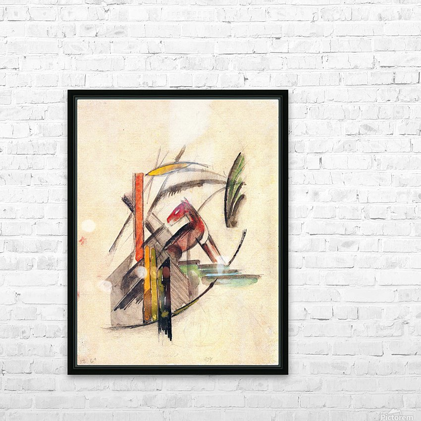 Animal by Franz Marc HD Sublimation Metal print with Decorating Float Frame (BOX)