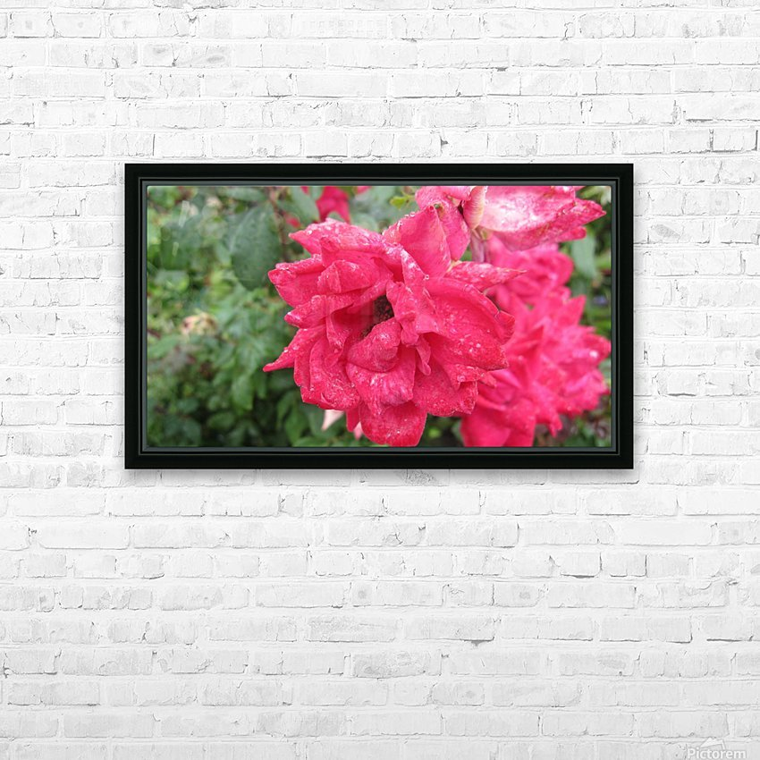 Flower (9) HD Sublimation Metal print with Decorating Float Frame (BOX)