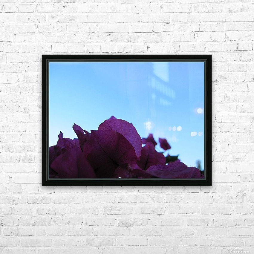 Flower (3) HD Sublimation Metal print with Decorating Float Frame (BOX)