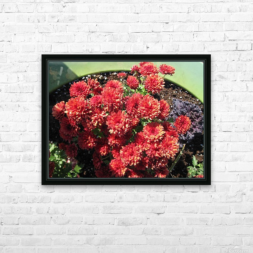 Flower (4) HD Sublimation Metal print with Decorating Float Frame (BOX)